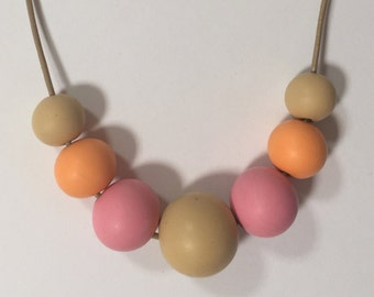 Pastel Shades, Polymer Clay Necklace