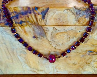 Alluring, Red Garnet, Necklace