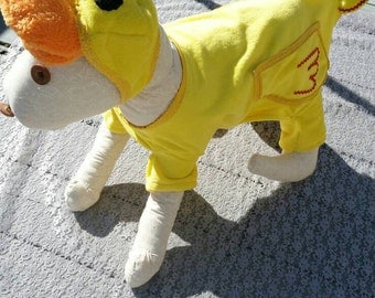 Halloween costume for dogs, dog costume, rubber ducky, Halloween, party, cosplay, duck costume, custom sizes available - size small to XXL