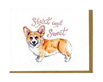 Corgi Card - Funny Dog Card - Corgi Greeting Card - Dog Greeting Card