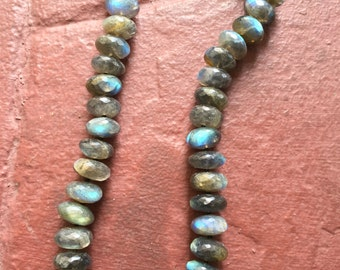 Faceted Labradorite Chocker with Vermeil Toggle Clasp