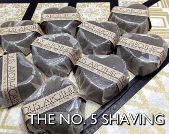 The No. 5 Shaving Bar | Pure Vegan Glycerin Coco Chanel-Scented Shaving Soap with Bentonite Clay and Grapeseed Oil