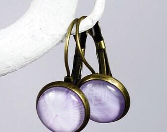 Cabochon earrings Daisy