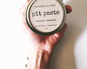 Pit Paste - 4oz - All Natural, Handmade, Zero-Waste, Vegan Deodorant