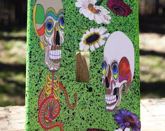 Laughing Skull Light Switch Cover Custom Decorative Switchplate