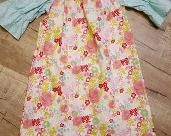 Girls Rose Peasant Dress