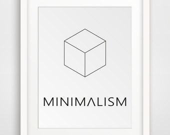 Minimalist Print; Black and White Print, Modern Minimalism, Black and White Wall Art, Printable Artwork, Printable Wall Art, Minimalist Art
