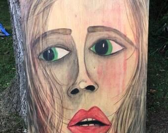 Original Woman Art - UNSTRUNG