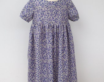 Empire Line dress made from a very soft cotton lawn.
