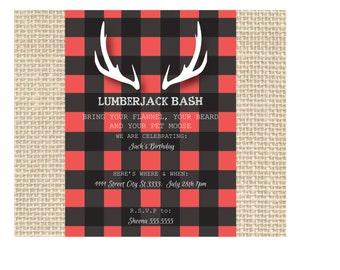 Lumberjack Bash Party Invitation