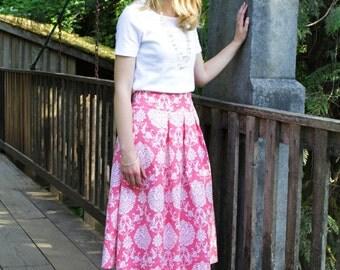 Pink print skirt