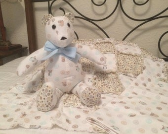 Owlish Bear with matching blankets