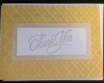 Greeting Card - Thank You in gold