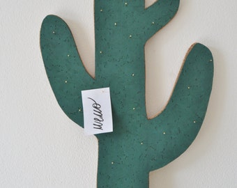 Cactus memo Board, cork panel, cactus, cactus, decorating message board, memo board, cactus, cactus panel panel