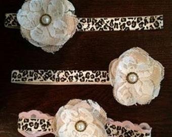Leopard  Vintage style headband