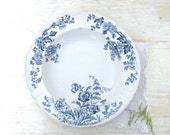 Transfer Ware Bowl Antique Blue and White Tableware