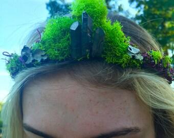 moss woodland tiara