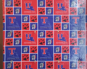 Louisiana Tech University Canvas Jewelry or Key Hanger