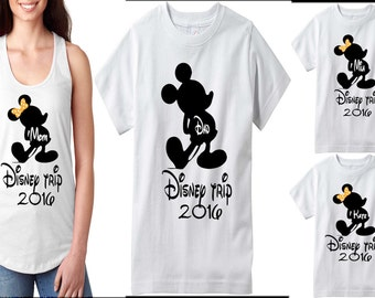 Disney Family Shirts, Matching Family T-Shirts , Disney Tank Top, Personalized Disney T-Shirts, My First Disney vacation.