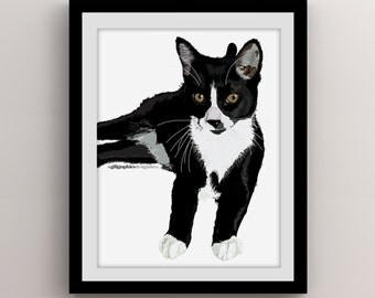 Custom Digital Pet Portraits, Pet Art, Custom Illustrations, Great Gift Ideas, Animal Lovers, Cats, Digital File