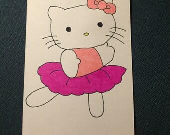 Costumized Hello Kitty birthday card