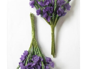 Purple Heather - Two Sprays of Artificial Heather - 12 Stems in Each Spray. Suitable for Wedding Corsage; separated into sprigs for Crafts.