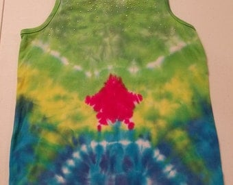 Little Girls' Tie Dyed Bling Tank Size XL (14-16)