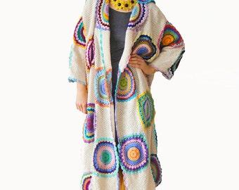 Plus size  clothing Long coat Size 3XL Plus size jacket Long cardigan Beige coat MADE TO ORDER