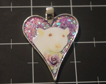 Purple Rose Rat, Beautiful Ruby-Eyed White Rat, 50% goes to the current focus charity
