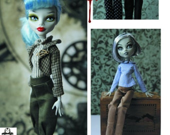 Patterns for Separates - Pants, Jacket and Tops- for Slim Fashion Dolls