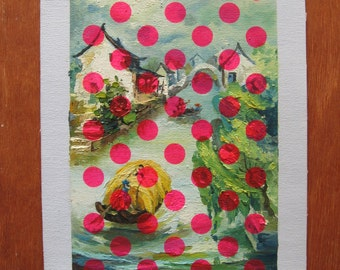 Filter Polka Pink - original modernised painting