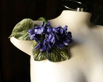 Blue Velvet Violets in Something Blue for Bridal, Boutonineres, Hats, Costumes MF 200