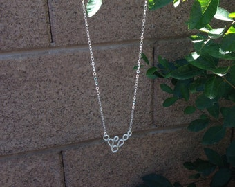 Prickly pear cactus sterling silver necklace