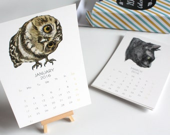 2017 Calendar - Animals in Color