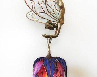 Art Nouveau Faerie and Silk Lily Lantern