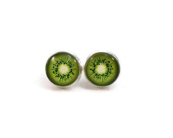 Kiwi Earrings Fruit Earrings Food Jewelry Fun Jewelry for Teens and Tweens Cute Summer Earrings Trends Gifts for Foodies