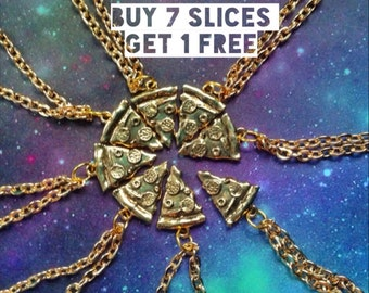 Pizza slice Friendship necklaces, friends, group gift BUY 7 or MORE get 1 FREE