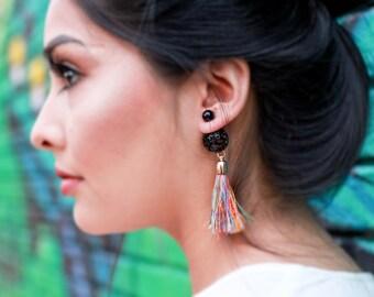 Womens Ear Jacket Jewelry - Gold Front Back Earrings - Boho Ear Jacket Earrings - Trending Earrings - Statement Earring Double Sided Earring