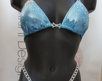 Baby Blue Figure Competition Suit