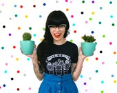 don't be a prick / PREORDER screen printed charcoal grey heather t-shirt women's / cotton blend cactus succulent
