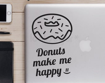 Laptop Decal - Donut Lovers Decal - Donut decal - LSLD-A0001TF