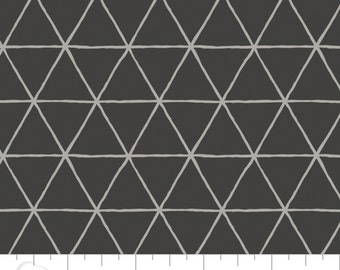 Crib Sheet - Grid in Carbon - Fitted Crib Sheet