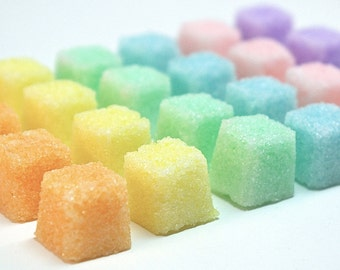 Sugar Cube Sampler- Flavored Sugar Set for Tea Parties, Champagne Toasts, Tea, Coffee, Favors, Showers, Sample Set of 4, 6, or 8 Flavors