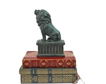 Vintage Bookend - Lion Bookend, Lion Statue, Lion Paperweight, Desk Accessory, c.1990s