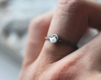 Range Ring . mini.  Sterling Silver Mountain Ring