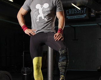 Men's T-shirt Sale - Gym tshirt gray tshirt for working out - short sleeve with white screen print graphic - CrossFit tee - Gym enthusiast