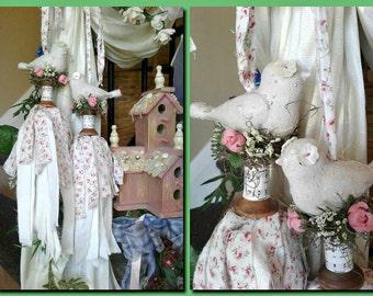 Shabby Country Chic, Curtain Tie Back, Tassel, Farmhouse Wall Decor