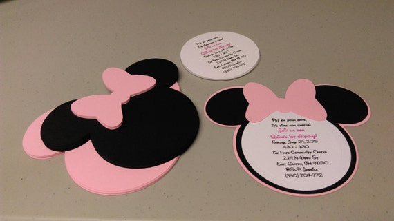 diy minnie mouse invitations in light pink birthday, Birthday invitations