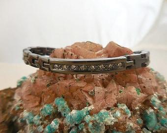 Vintage Hematite Link Bracelet