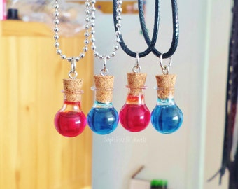 Health & Mana Potion BFF/Couple's Necklaces/Charm